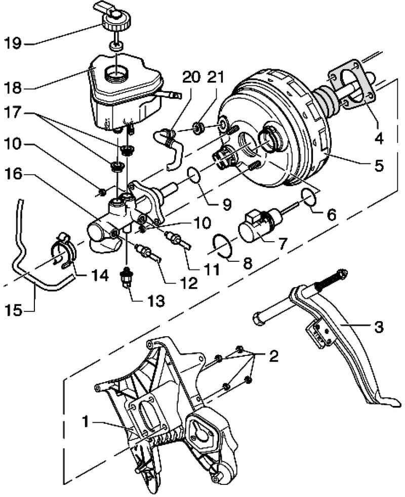 Тормозная система фольксваген т4 схема